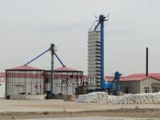 300吨玉米烘干塔吉林客户现场图